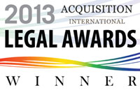 2013 Legal Awards Winner